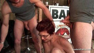 amateur squirt redhead slut ass fucked and fisted hard in threesome outdoor