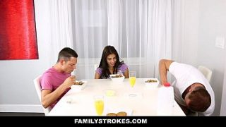 FamilyStrokes – My Stepsister (Michelle Martinez) Fucked My Dad and I